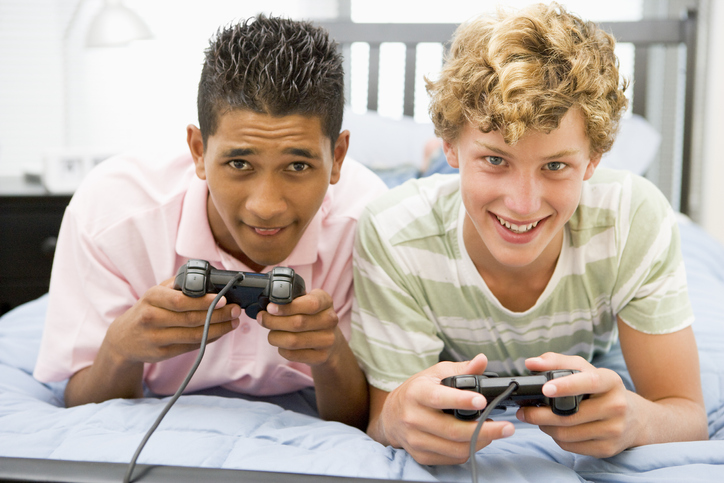 16 Year Old Boys playing video games