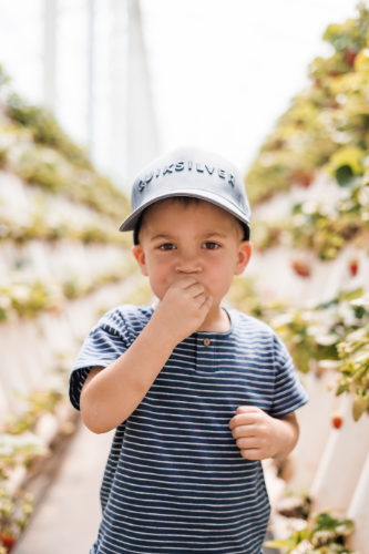 Image of a 3 Year Old Boy Standing Outside